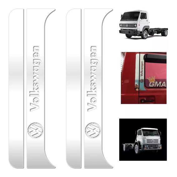 Aplique Inox Coluna Porta Caminhão Volks 3/4 E Truck Worker