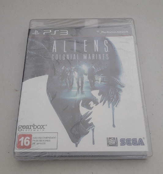 Jogo Aliens Ps3 - Colonial Marines - Lacrado - Original