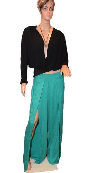 Rosh Pantalon De Fibrana Color Verde Promo