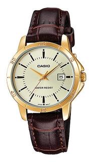 Reloj Casio Mujer Ltp-v004gl-9a Análogo Pulso Cuero Indicad