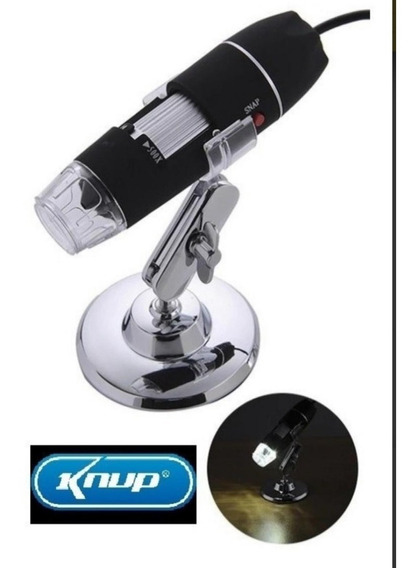 Microscopio Digital Usb 1000x Knup Kp8012 Camera 8 Leds Novo