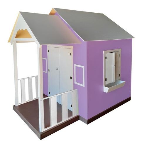Casinha De Brinquedo Com Varanda Lilás - Criança Feliz