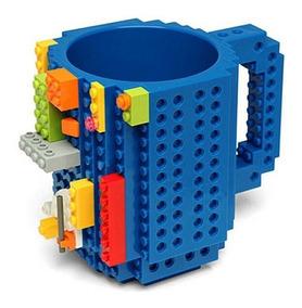Caneca Compatível Lego 12 Cm Com Peças