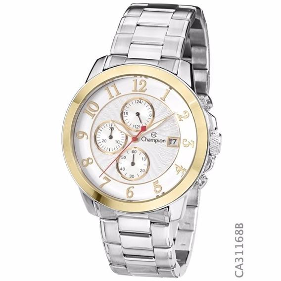 Relógio Masculino Champion Com Pulseira Aço Inox Ca31168b