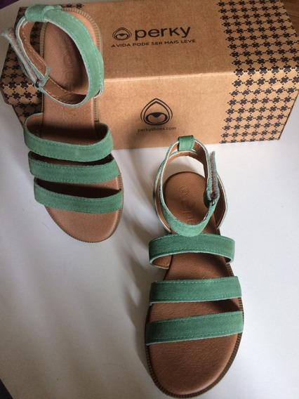 Perky Desert Sandal Mata - Verde Musgo -
