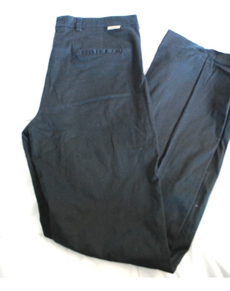 Pantalón Marca Lacoste Talle 46 Negro -vestir Mujer