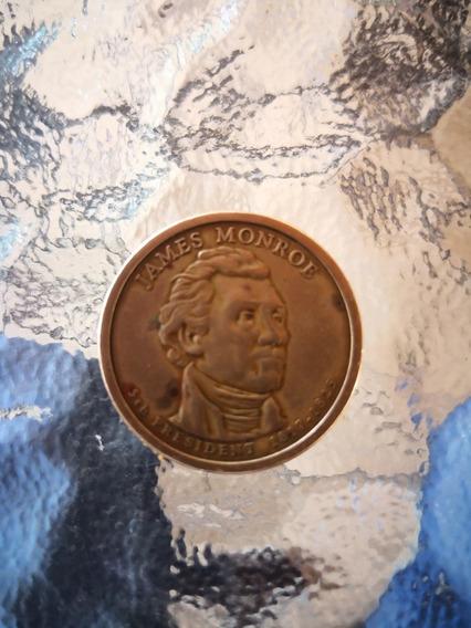 Moneda De Colección, De 1 Dolar Presidente James Monroe