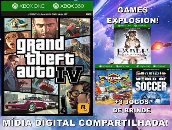 Gta Iv Xbox 360/ One +3 Jogos - Mídia Digital