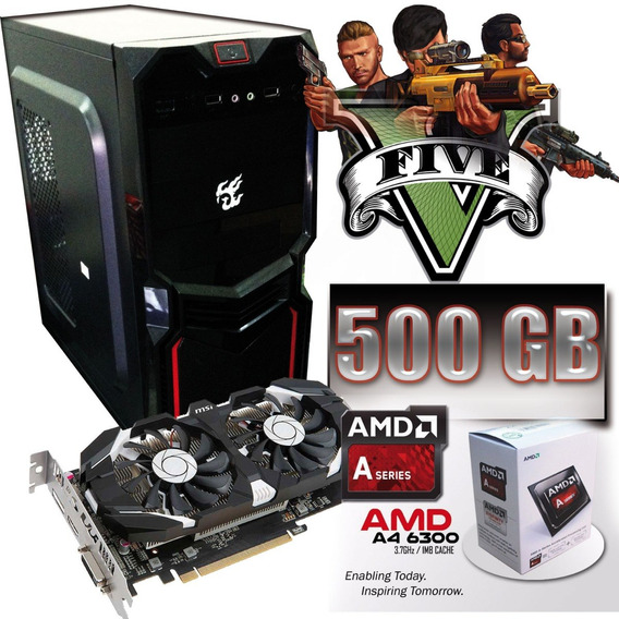 Pc Gamer A4-6300 Gtx 750ti / 8gb / 500gb