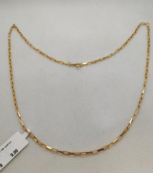 Corrente Ouro 18k Cartier Tijolinho 50cm 6,90g