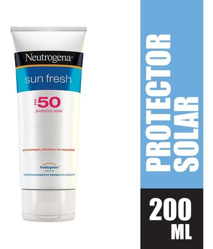 Protector Solar Neutrogena Sun Fresh Fps50 X 200ml