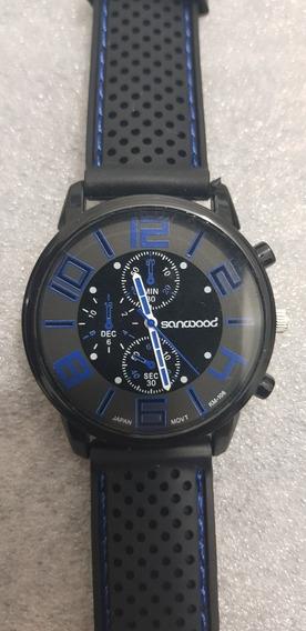 Relógio Sanwood Analógico Com Pulseira De Silicone