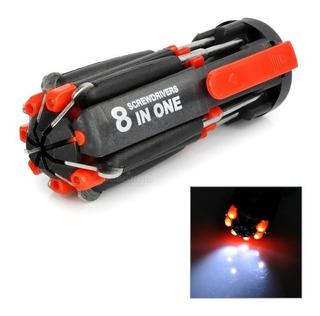Destornillador 8 En 1 Con Linterna A Pila, Super Oferta, Mania-electronic
