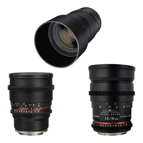 Kit Rokinon Lentes Cine 85mm 35mm 135mm Sony E-mount