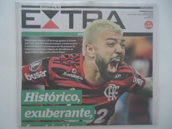 Jornal Extra 24-out-2019 Libertadores Flamengo 5 X 0 Grêmio