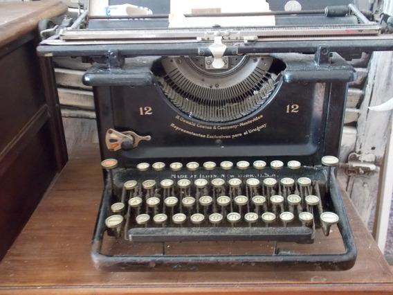 Antigua Maquina De Escribir Remington 12