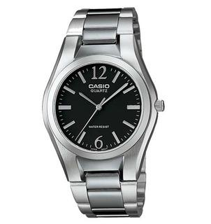 Reloj Casio Caballero Acero Fondo Negro Mtp-1253d