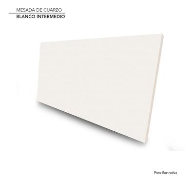 Mesada De Cuarzo Blanco Intermedio Construcción