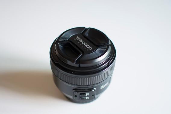 Lente Yongnuo 35 Mm P/ Nikon F/2n