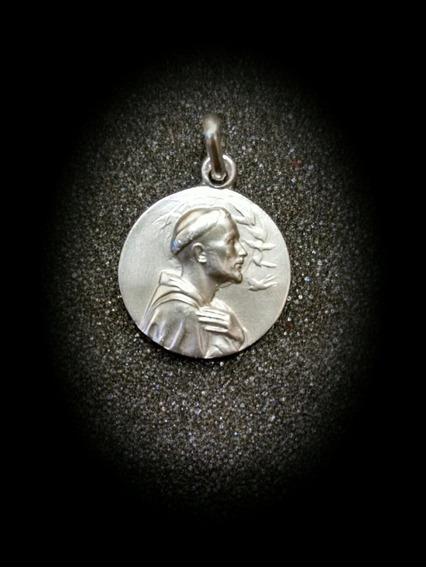 Medalla Plata 925 San Francisco De Asís #1114 Bautizo