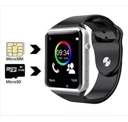 Relógio A1 Chip Bluetooth Smartwatch Camera Face Inteligente