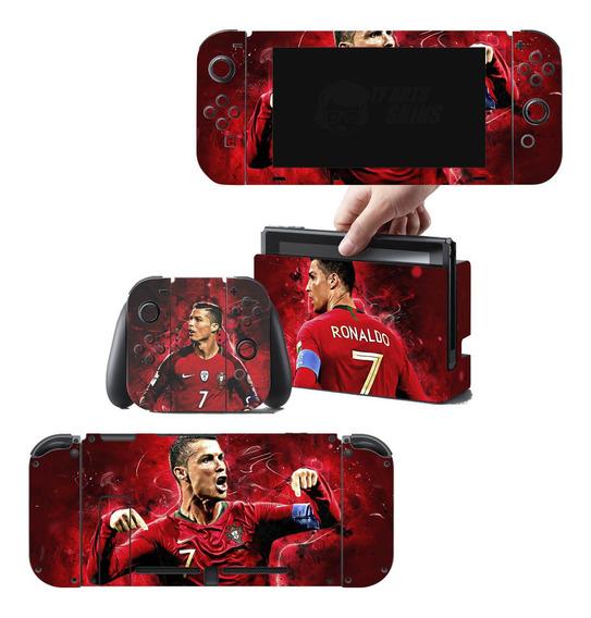 Skin Nintendo Switch Cristiano Ronaldo Cr7 - Frete Grátis