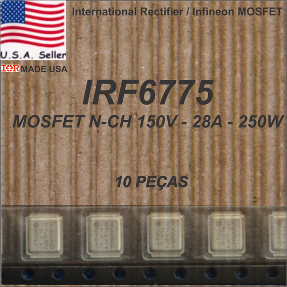 Pack Com 10x Irf6775m Irf6775mtr1pbf Ir 6775 Ir6775 Irf6775