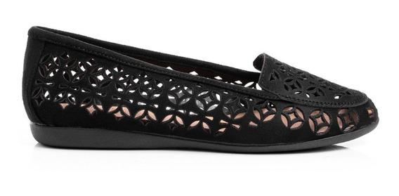 Zapatos Mujer Balerinas Chatitas Mocasines Dama Cuero Pu Caladas Comfort Bajas Base Antideslizante