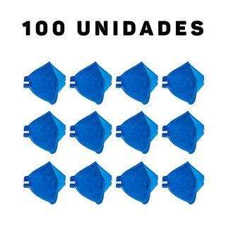 Kit 100 Máscaras Contra Poeiras E Névoas Sem Válvula Pff1
