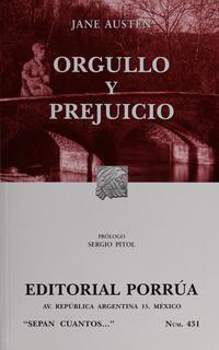 Novela Orgullo Y Prejuicio Jane Austen Editorial Porrúa