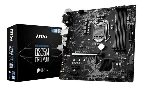 Motherboard Msi B365m Pro-vh Turbo M.2 Ddr4 2666mhz 1151