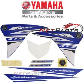Kit Adesivos Graficos Xtz 250 Lander Azul Original Yamaha