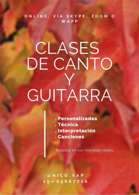 Clases De Canto Y Guitarra (online)