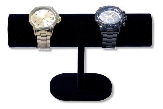 Expositor Para Pulseira Relógios Bracelete Veludo Preto