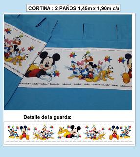 Juego De Cortinas Mickey !!!
