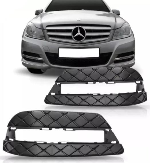 Par Grade Parachoque Diant Mercedes Benz C180 2012 Com Furo