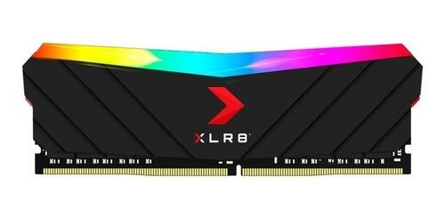 Imagem 1 de 2 de Memória RAM XLR8 Gaming EPIC-X RGB color Preto  16GB 1x16GB PNY MD16GD4320016XRGB