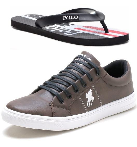 Tênis Sapatênis Polo Plus + Chinelo Polo Plus Original!!!