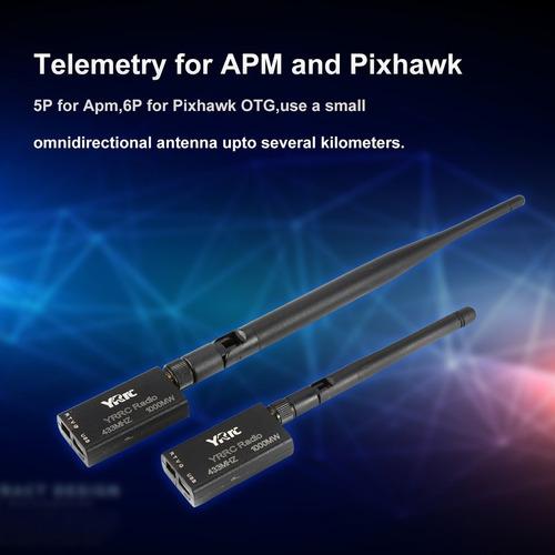 Peanutaso Radio telemetr/ía 250Mw 433Mhz 1000Mw Telemetr/ía de Datos Ttl y Puerto USB para Apm Pixhawk Pixhack Firmware de c/ódigo Abierto