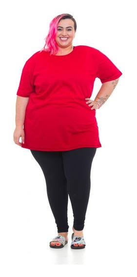 Camiseta Plus Size Wonder Size Malha Vermelha