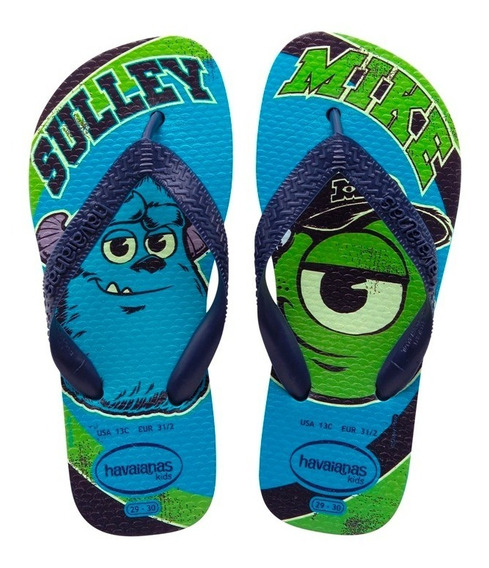Zonazero Havaianas Ojotas Kids Monster Inc Niños Originales