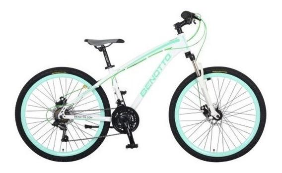 Bicicleta Benotto Landstar Mtb Aluminio R26 21v Dama Blanca