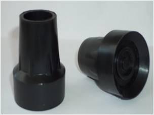 Regatón Para Muletas Y Bastones 22mm (2 Pares)