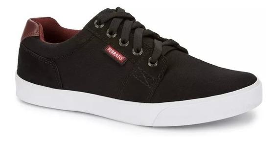 Tenis Sneaker Juvenil Modern Hombre Estudiante Negro 2462349
