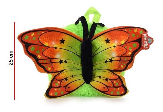 Mochila De Peluche Mariposa 25 Cm. Phi Phi Toys