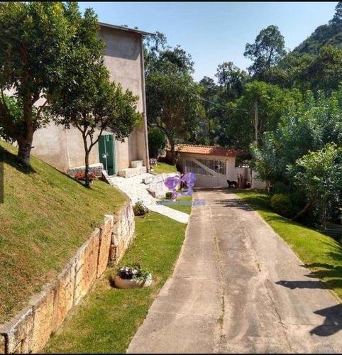 Chácara Com 3 Dormitórios À Venda, 1624 M² Por R$ 450.000,00 - Pousada Bandeirantes - Araçariguama/sp - Ch0116