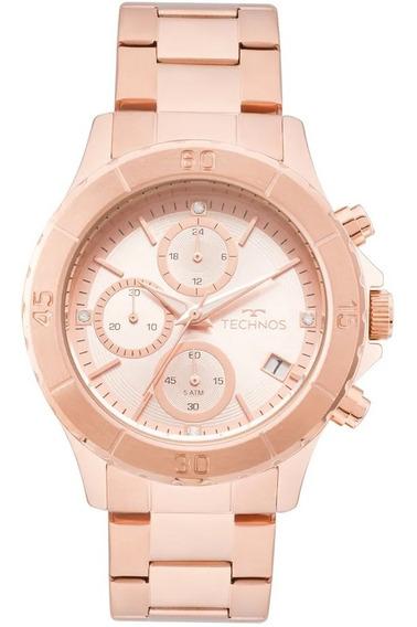 Relógio Technos Rosé Feminino Elegance Ladies Js15fk/4t
