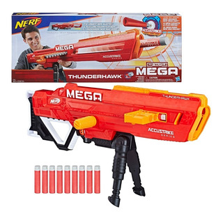 Nerf Lanzador Mega Thunderhawk Pistola Juguete - Multicolor