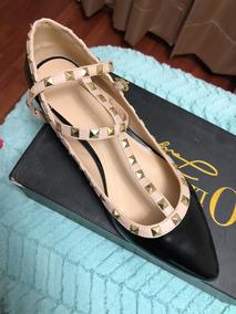 Zapatos Dama Nuevos Negros Talla 27 Mex. Estoperoles
