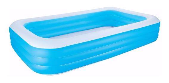 Pileta Inflable Rectangular Azul 305x183x56cm Bestway 54009